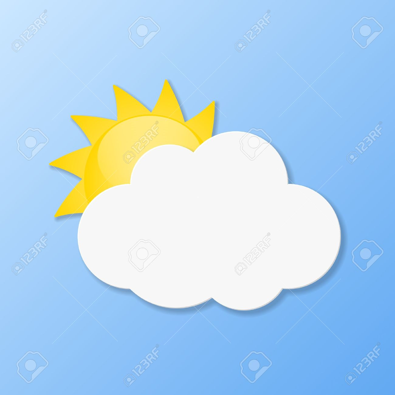 Weather Icons. Fair Weather Illustration. Royalty Free Cliparts.