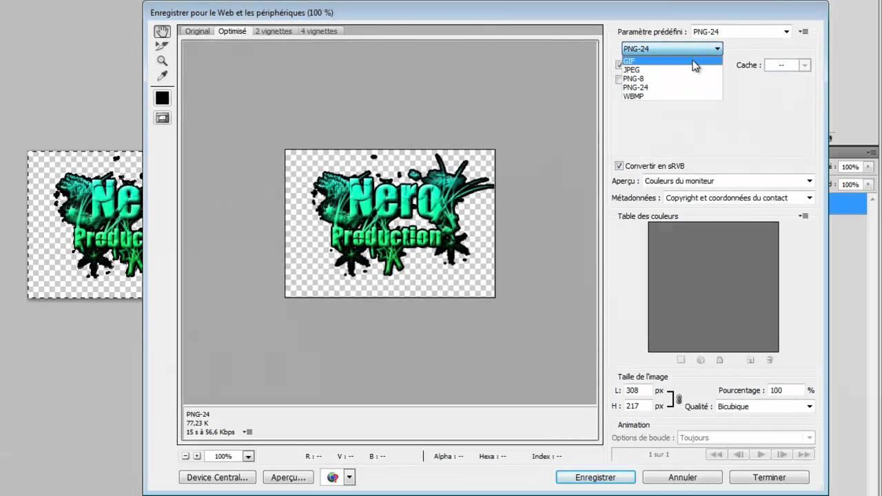 Comment faire une image transparente en format .PNG ?.