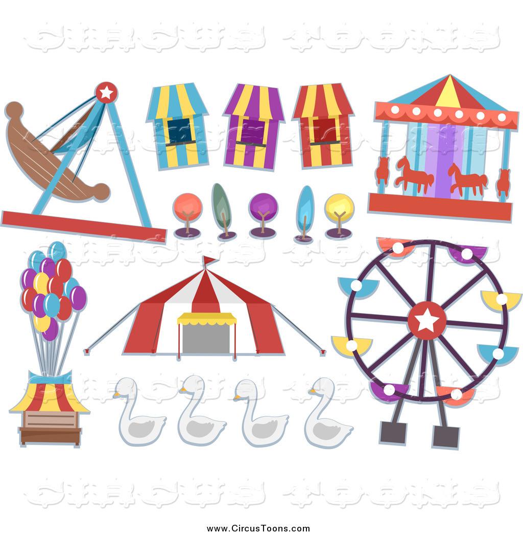 Fairground rides clipart.