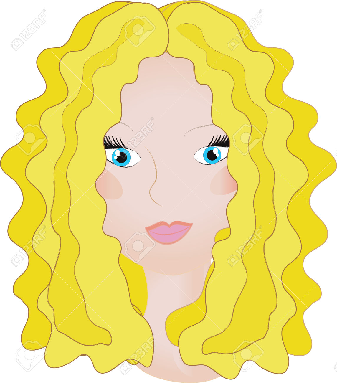 Blonde Hair Girl Clipart (85+).