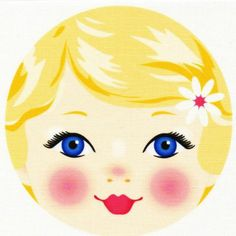 Person with blonde hair and blue eyes clipart.