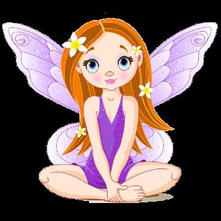 Cute Cartoon Fairies Clip Art.