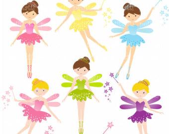 Cute fairies clipart.