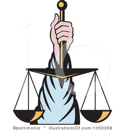 Justice and fairness clipart.