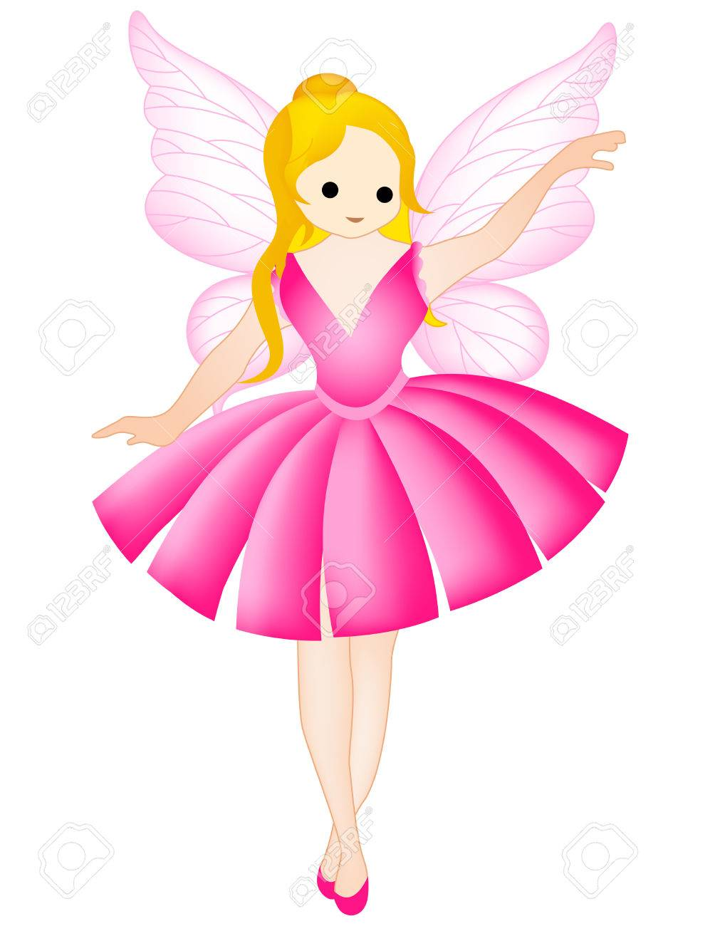 fairy / angel clipart isolated on white.