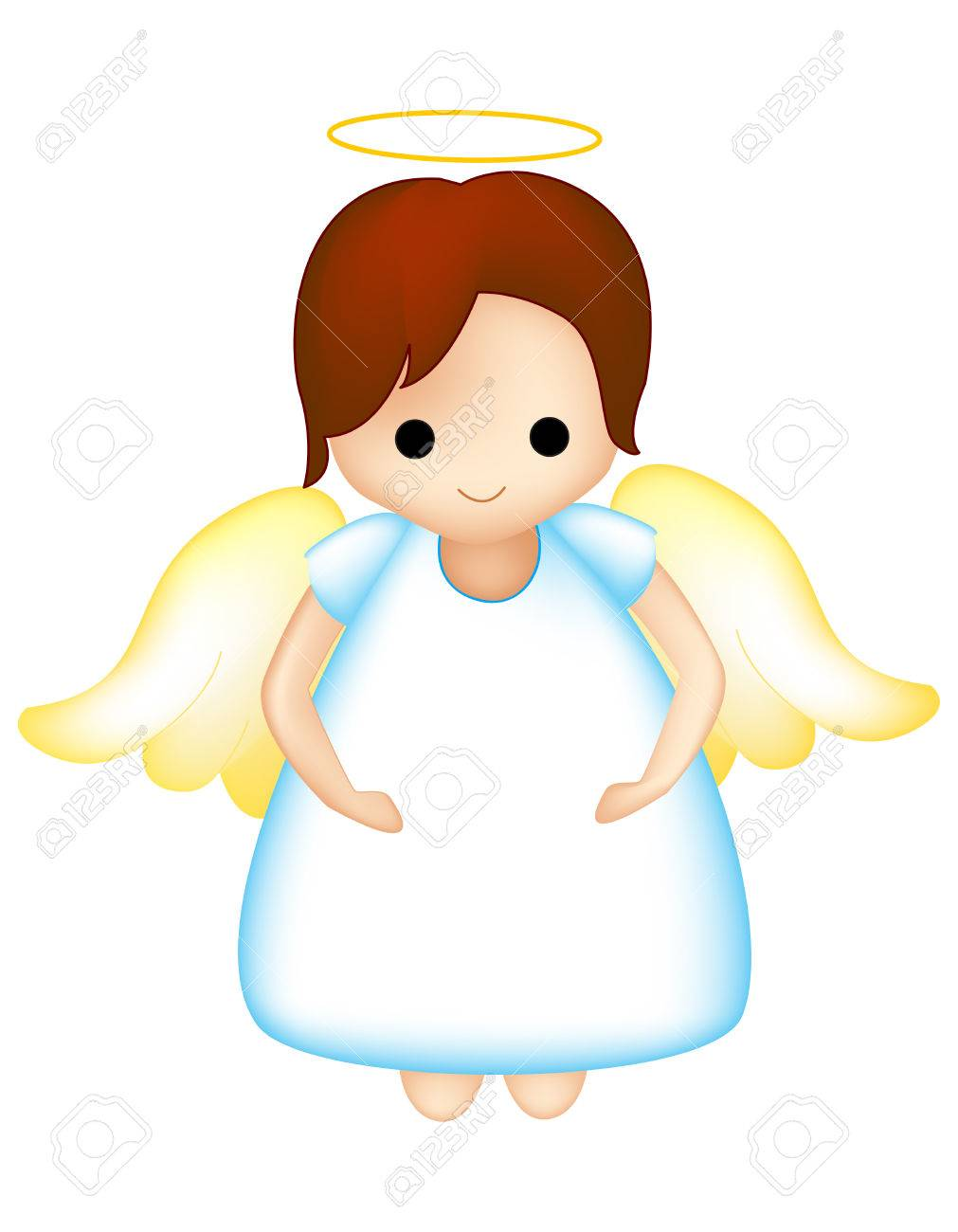 Little fairy / angel clipart isolated on white.