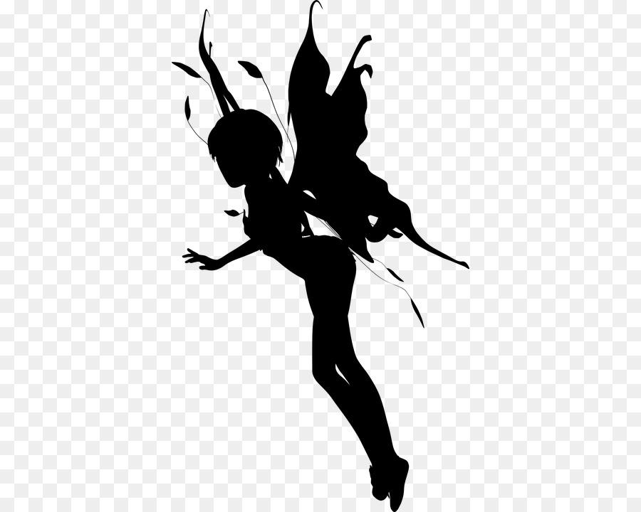 Silhouette Female Angel Clip art.
