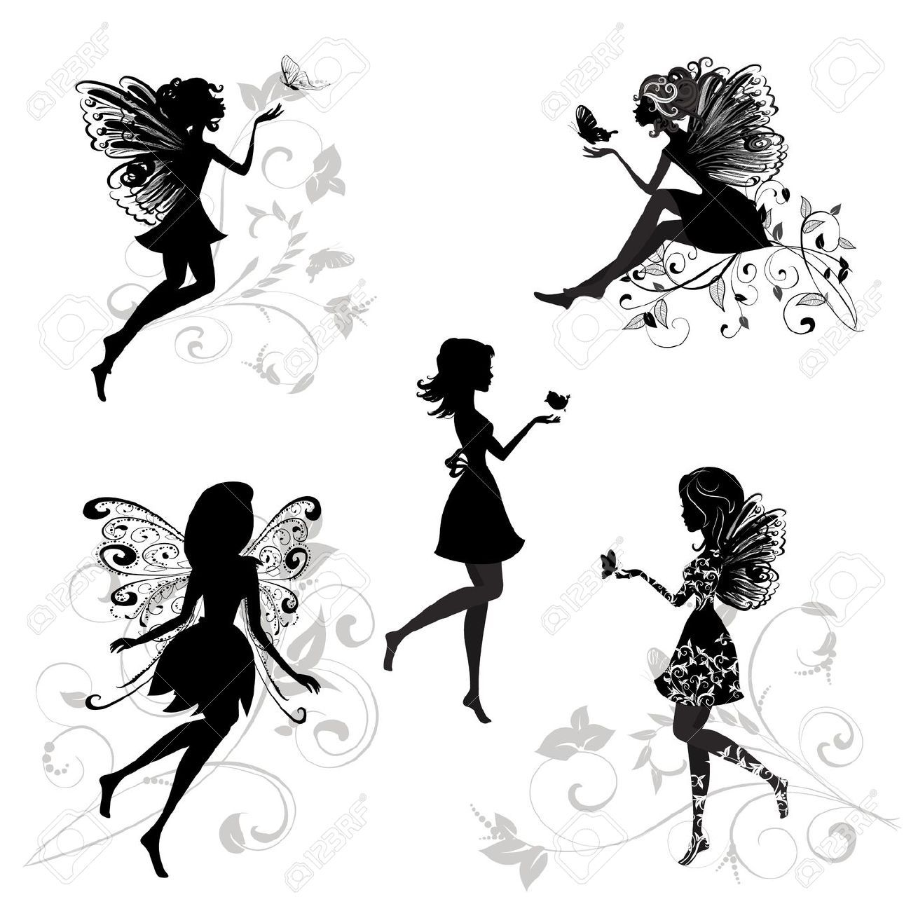 Fairy Silhouette Stock Illustrations, Cliparts And Royalty Free.