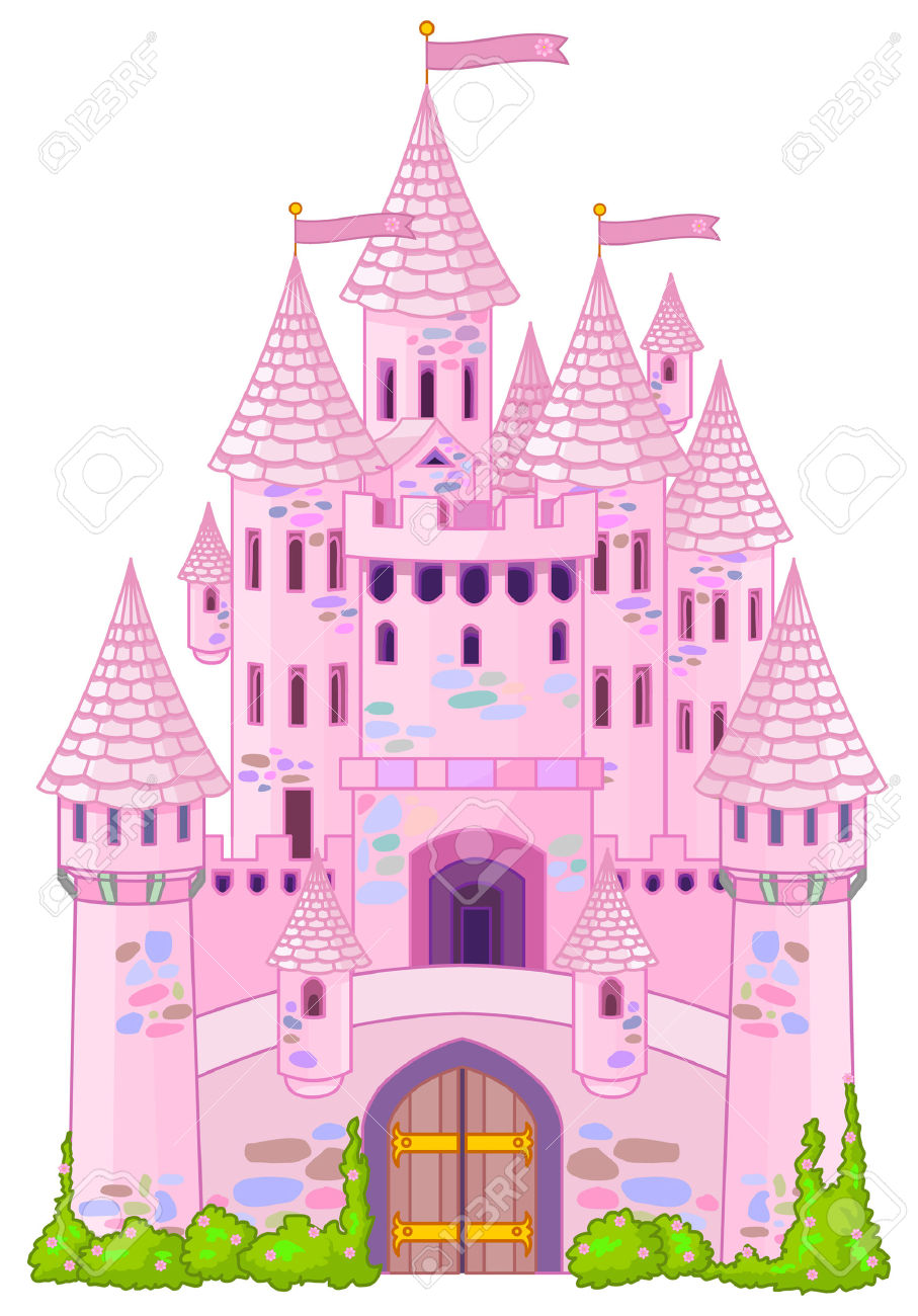 Illustration Of A Fairy Tale Princess Castle Royalty Free Cliparts.