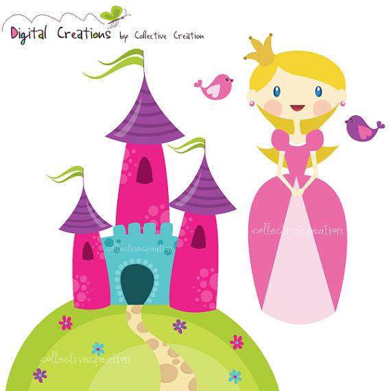 Princess castle clip art.