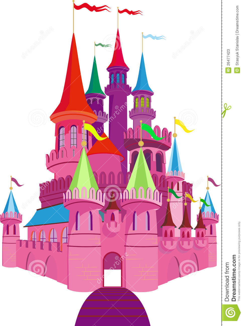 Fairytale Castle Clipart.