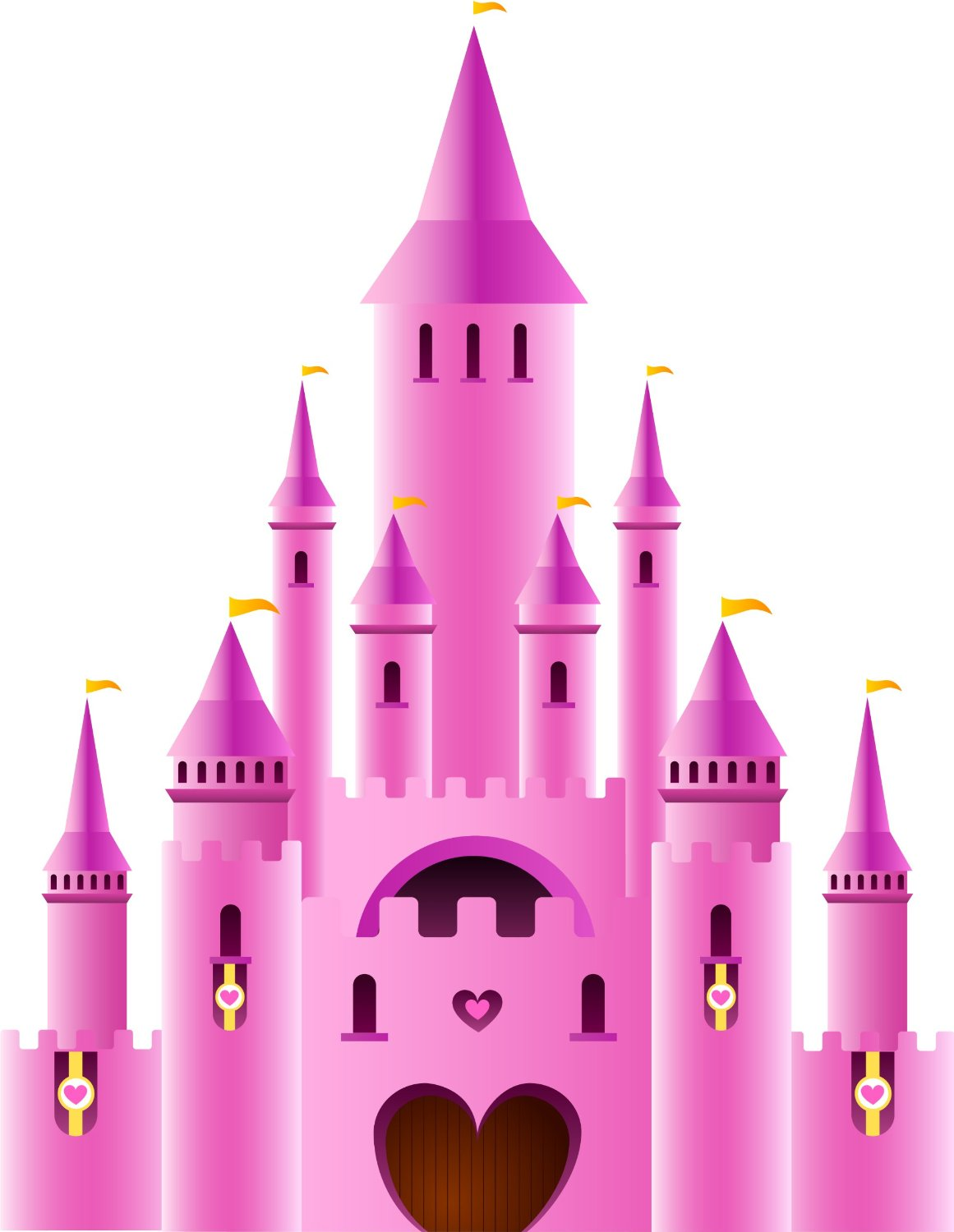 Fairy Princess Castle Clipart.
