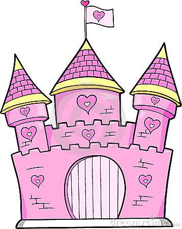 Fairy Princess Castle Clipart.