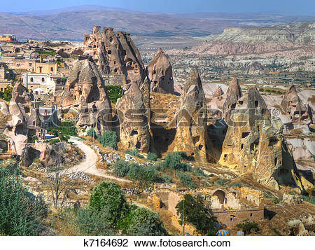 Clip Art of Fairy chimneys in Cappadocia k7164692.