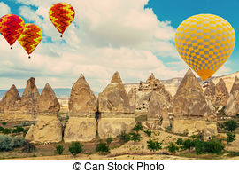 Stock Photographs of Stone formations, Fairy Chimneys in.