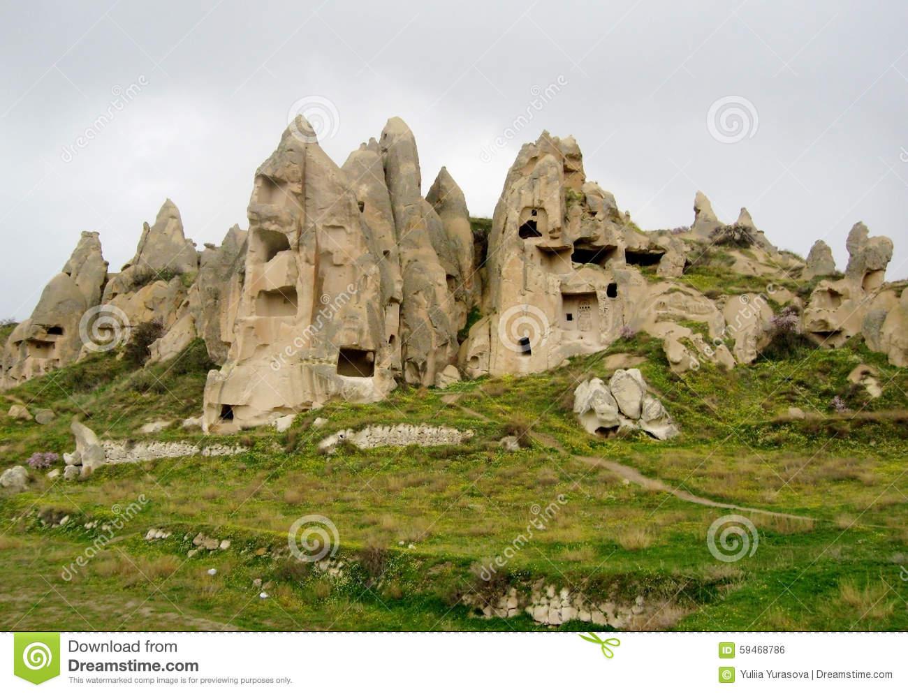 Cappadocia Cave City Stock Photo.