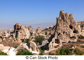 Stock Photo of Stone formations, Fairy Chimneys in Cappadocia.