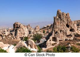 Stock Photo of Stone formations, Fairy Chimneys in Cappadocia.