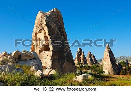 Stock Photo of Fairy Chimneys near Göreme Goreme , Cappadocia.