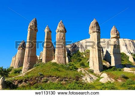 Stock Photography of The Fairy Chimneys of Love Valley.