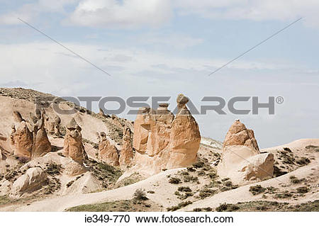 Stock Photography of Fairy chimneys in cappadocia ie349.