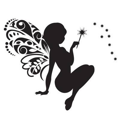 9,592 Black And White Fairy Stock Illustrations, Cliparts And.