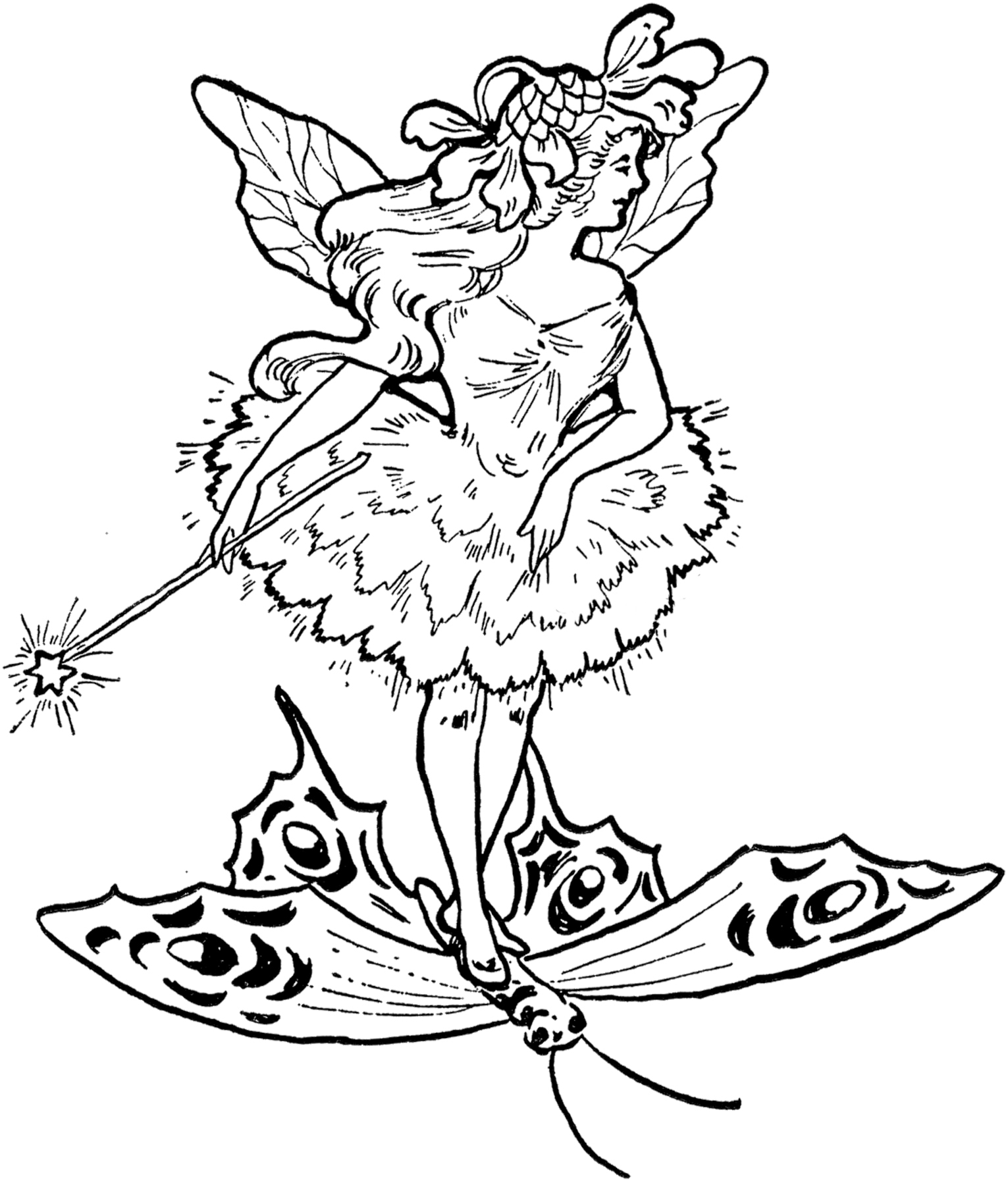 Free Fairy Black And White Clipart, Download Free Clip Art, Free.