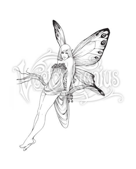 Butterfly Flower Fairy Fantasy Clipart.