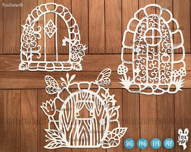 Fairy Door Svg, Fairy Clipart, Doors Svg, Fairies cut files, Fantasy Svg,  Fairy Tale Svg, Png and Vector cut files for Cricut Silhouette.