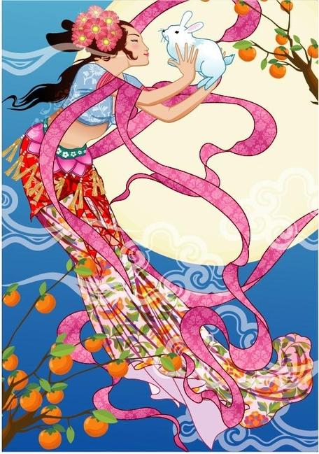 Mid Autumn Festival Clip Art, Vector Mid Autumn Festival.