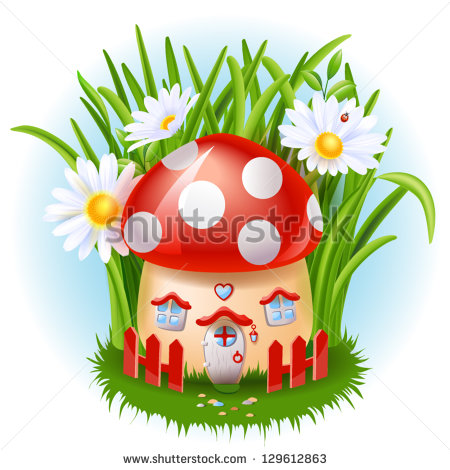 Fairy House Stock Images, Royalty.