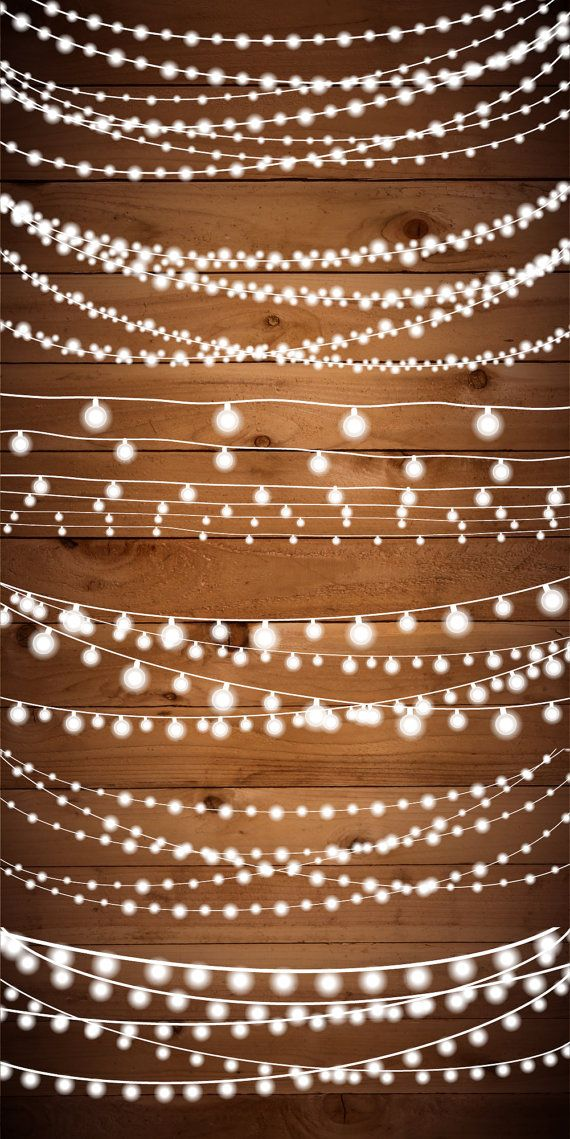 String Lights Clipart Fairy Lights Clipart Party by birDIYdesign.
