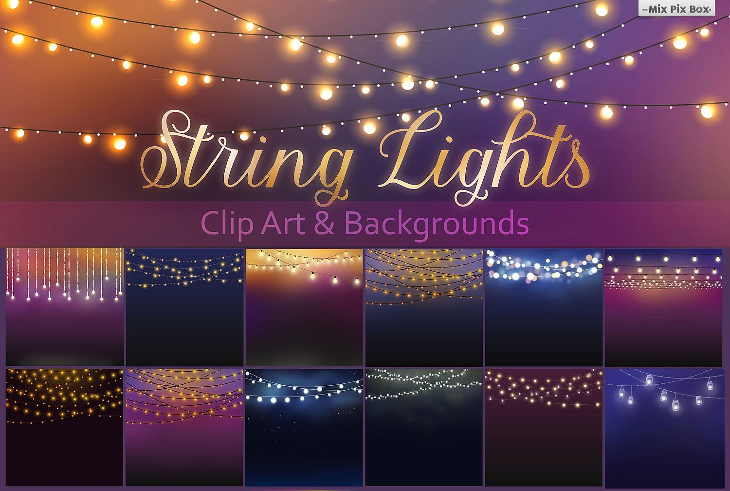 659 String Lights free clipart.