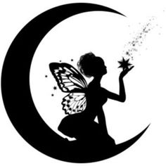 9 Best Images of Printable Fairy Silhouette.