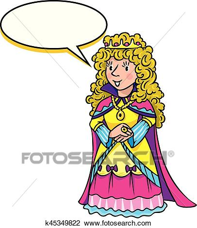 Beauty fairy queen or princess Clipart.
