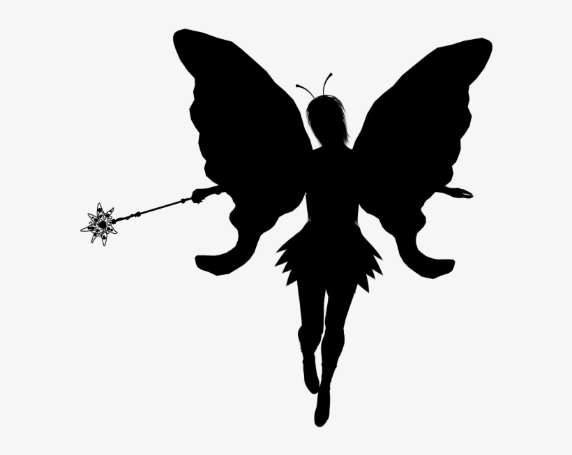 Fairy Silhouette Clip Art Free At Getdrawings.