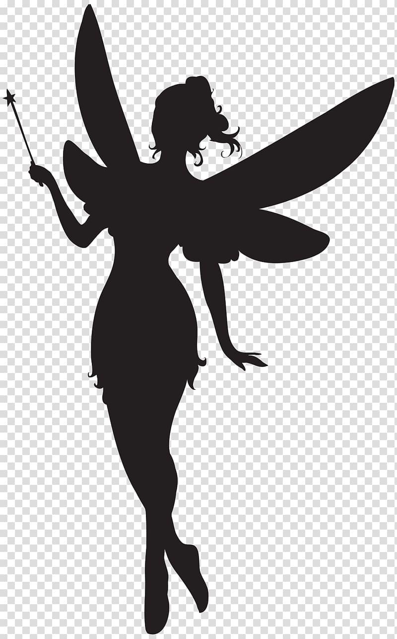 Fairy illustration, Fairy Silhouette , Fairy with Magic Wand.