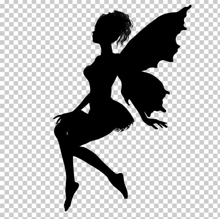 Fairy Silhouette Drawing Pixie PNG, Clipart, Ballet Dancer, Black.