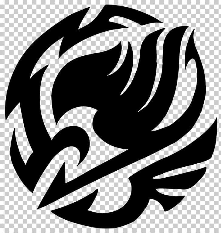Fairy Tail Tattoo , tribe, black logo illustration PNG.
