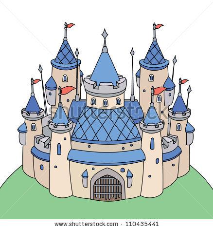 Vector Fairy Tale Castle Girl Stock Vector 110358581.