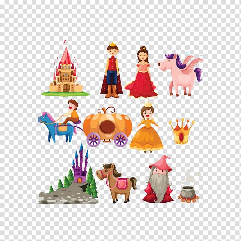 Cinderella Fairy tale Cartoon , Cartoon fairy tale characters.