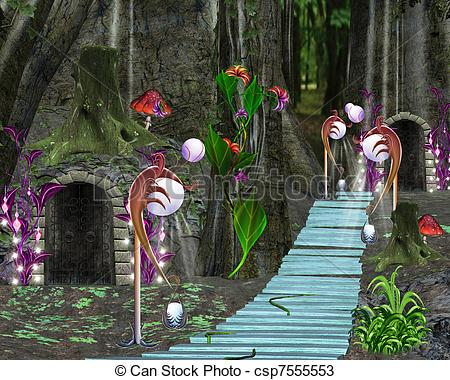 Enchanted forest Stock Illustration Images. 483 Enchanted forest.