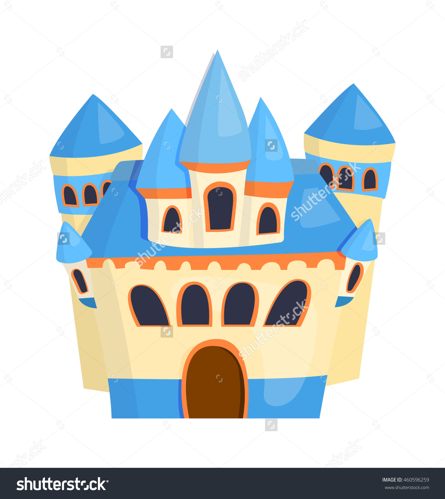 Cartoon Fairy Tale Castle Tower Icon Stock Vector 460596259.