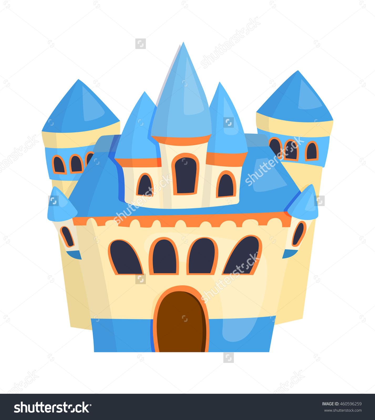 Cartoon Fairy Tale Castle Tower Icon Stock Vector 460596259.