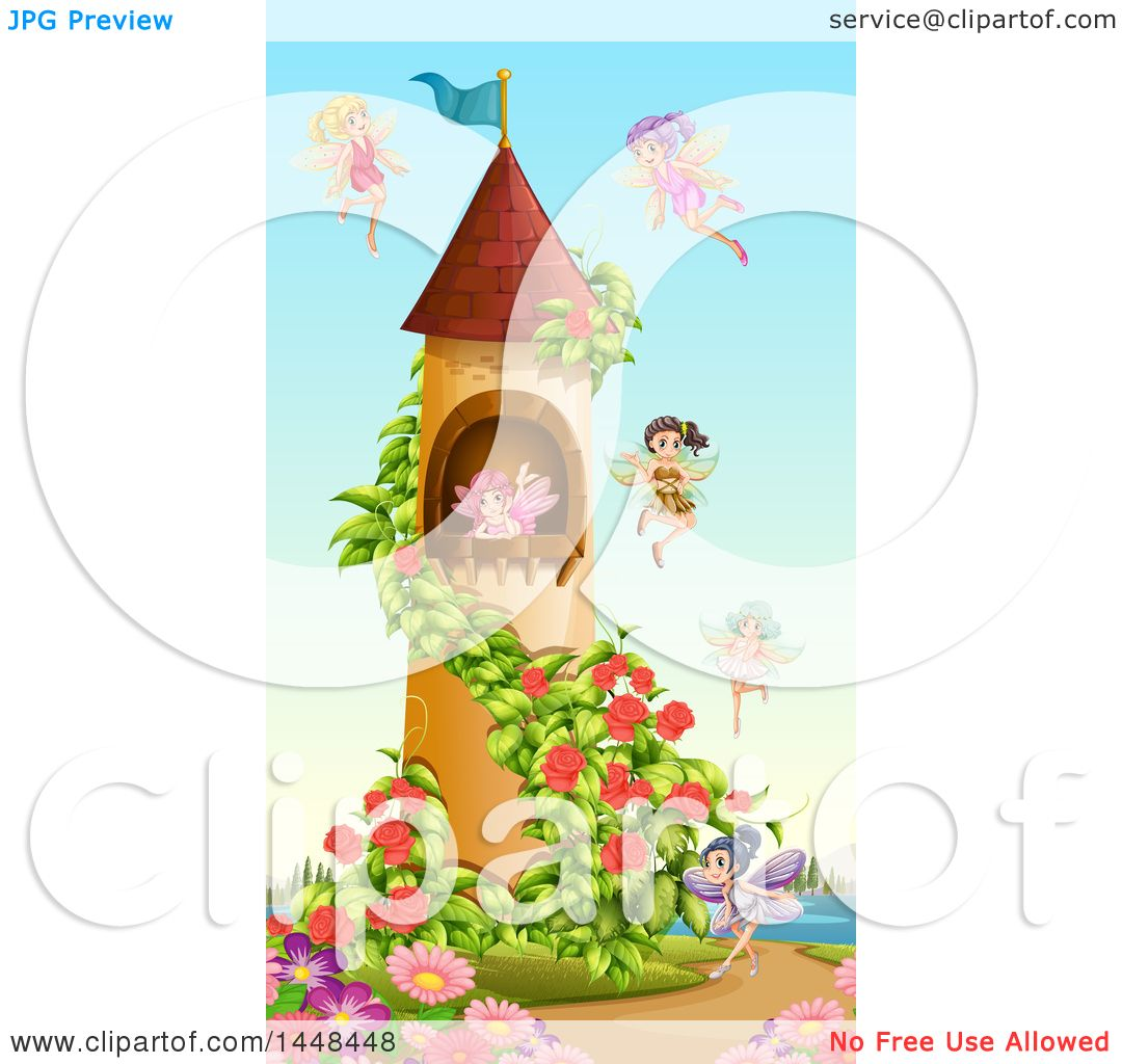 Clipart of a Fairy Tower.