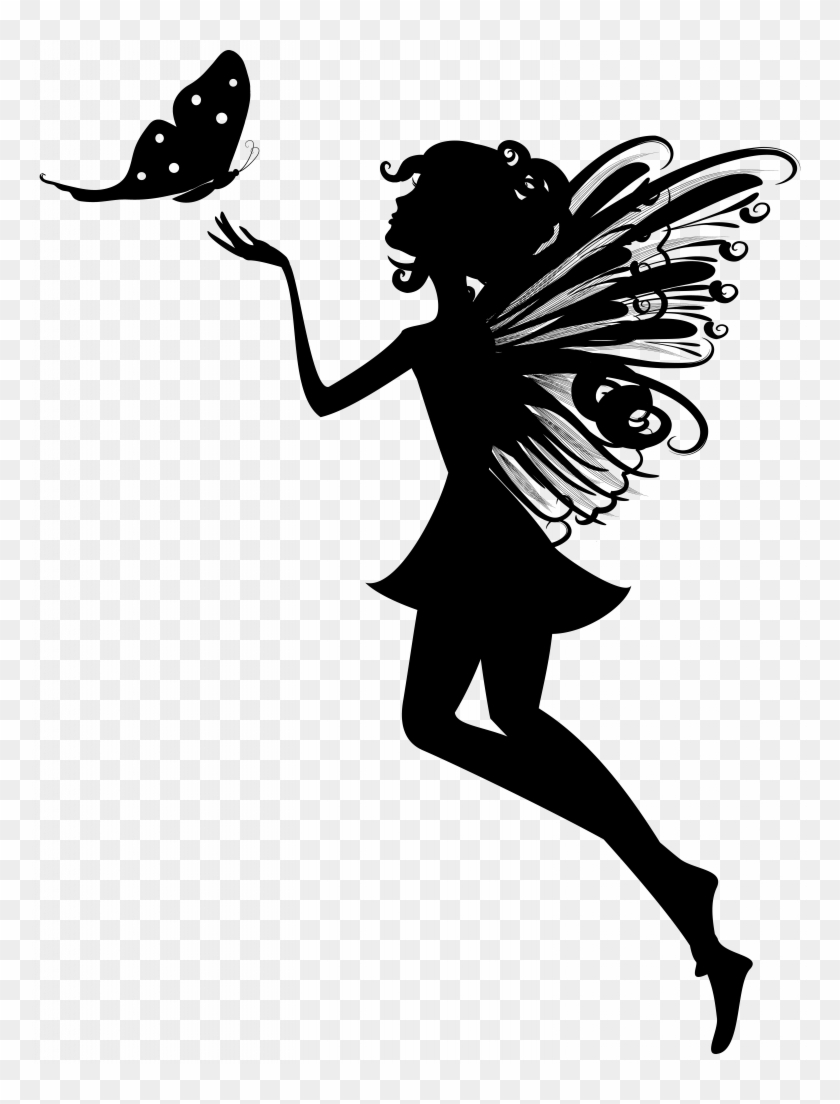Promising Free Pictures Of Fairies Fairy Vector Silhouette.