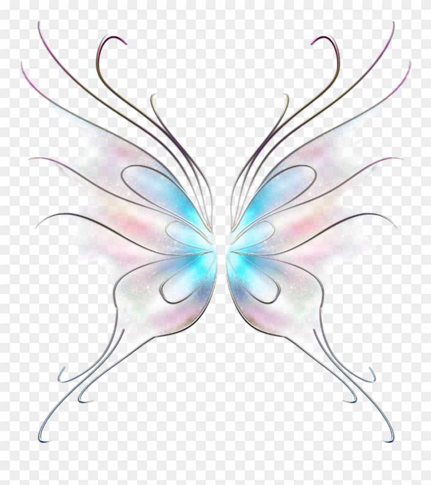 Art Butterfly Fairy Wings Stickers.