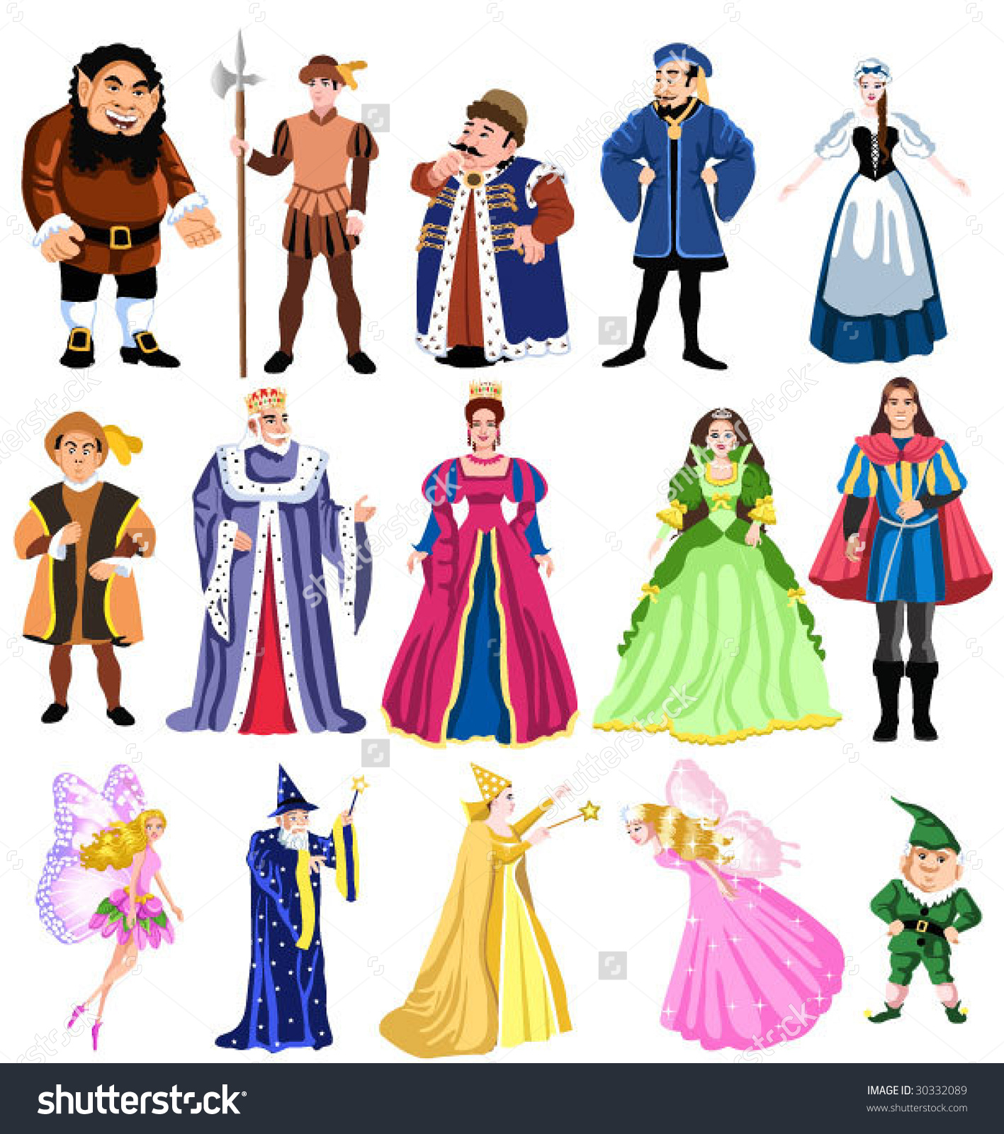Fairy Tales Characters Stock Vector 30332089.