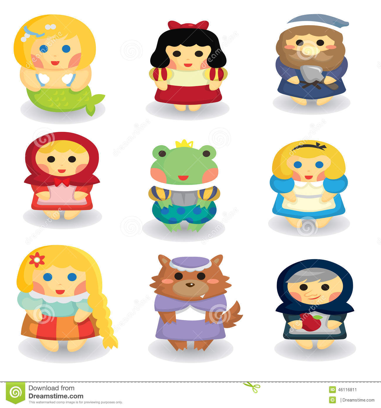 Fairytale Characters Stock Illustration.