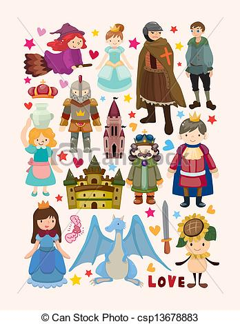 Fairy Tale Characters Clip Art.